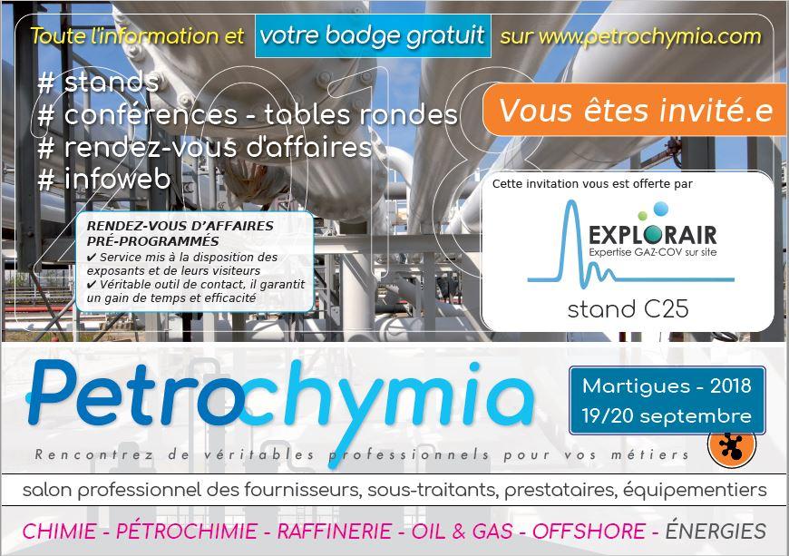 EXPLORAIR participe à la première édition de Petrochymia !