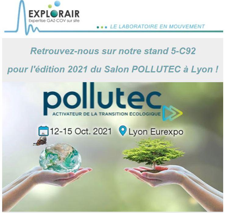 Retrouvez nous à Pollutec à Lyon, au stand 5-C92, du 12 au 15 octobre 2021